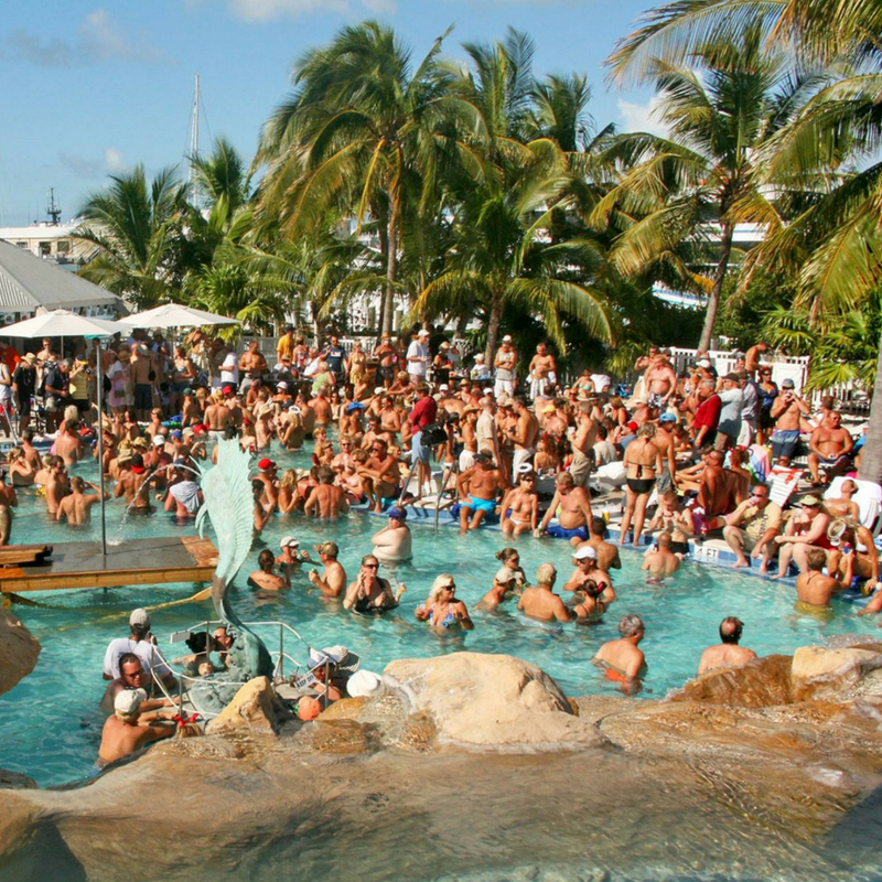 spring breakers key west pool party